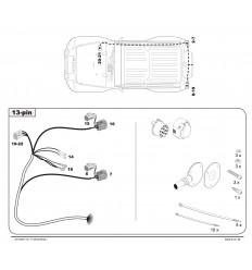Штатная электрика к фаркопу на Jeep Wrangler 119704/44110213