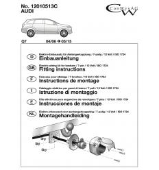 Электрика оригинальная к фаркопу на Audi Q7 12010513