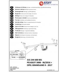 Фаркоп на Peugeot 3008 315244600001