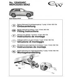 Штатная электрика к фаркопу на Mercedes GLE 12040548