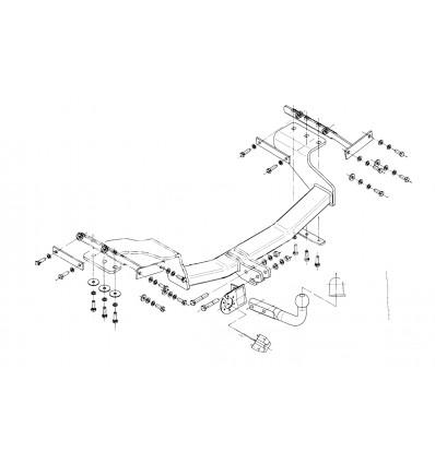 Фаркоп на Nissan X-Trail N/036