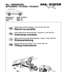Электрика оригинальная к фаркопу на Mitsubishi Outlander 16500524