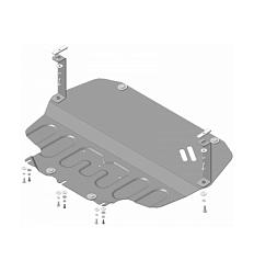 Защита картера и КПП Skoda Superb 72302