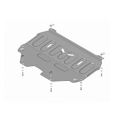 Защита картера и КПП Citroen C4 Picasso 71604