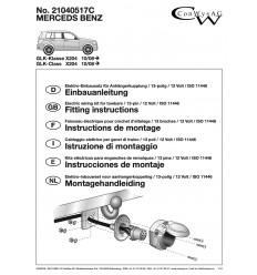 Штатная электрика к фаркопу на Mercedes-Benz GLK 21040517