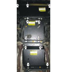 Защита картера, радиатора, КПП и переднего дифференциала Jeep Grand Cherokee 15205