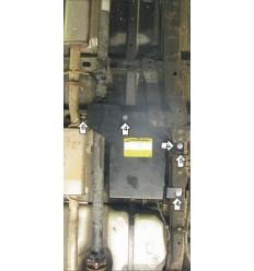 Защита абсорбера, топливного фильтра и подшипника карданного вала Opel Antara 13004
