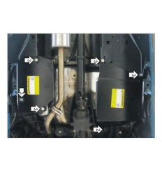 Защита топливного бака и абсорбера Haval H6 03123