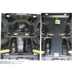 Защита картера, радиатора, КПП и переднего дифференциала SsangYong Actyon Sports 02803