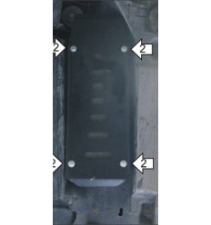 Защита радиатора охлаждения топлива Volkswagen Multivan 02715