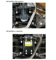 Защита заднего дифференциала Subaru Forester 02237
