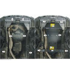 Защита картера и КПП Subaru Legacy 02221