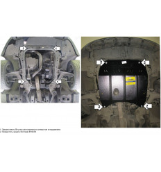 Защита картера и КПП Saab 9-3 01808