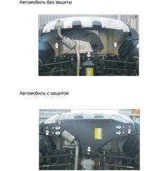 Защита заднего бампера Renault Duster 01735
