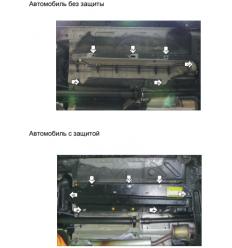 Защита топливных трубок Renault Duster 01733