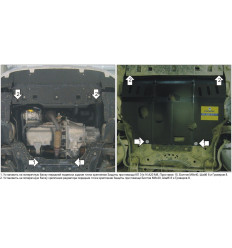 Защита картера и КПП Peugeot Partner Tepee 01614