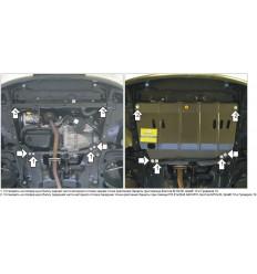 Защита картера и КПП Peugeot 207 01609