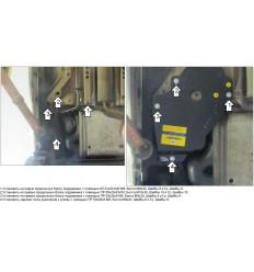 Защита топливных трубок Opel Astra 01527
