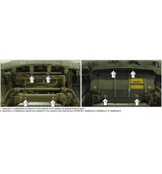 Защита радиатора Nissan Navara 01438