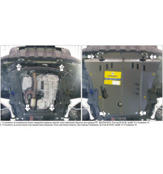 Защита картера и КПП Acura MDX 00823