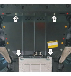 Защита картера и КПП Ford Mondeo 00755