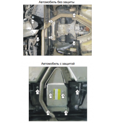 Защита заднего дифференциала Land Rover Discovery Sport 383223