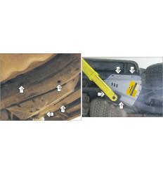 Защита компрессора пневмоподвески Land Rover Discovery 383213