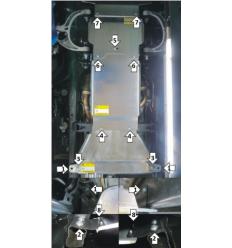 Защита картера, радиатора, КПП, РК и переднего дифференциала Dodge RAM 382906