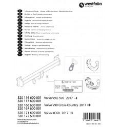 Фаркоп на Volvo XC60 320172600001
