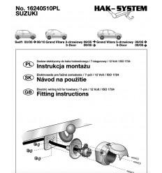 Штатная электрика к фаркопу на Suzuki Grand Vitara 16240510