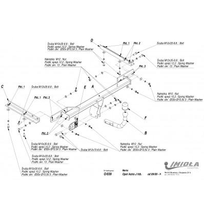 Фаркоп на Opel Astra J O/039