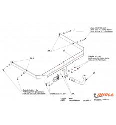 Фаркоп на Mazda 3 X/021