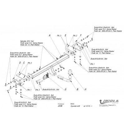 Фаркоп на Kia Sportage J/038