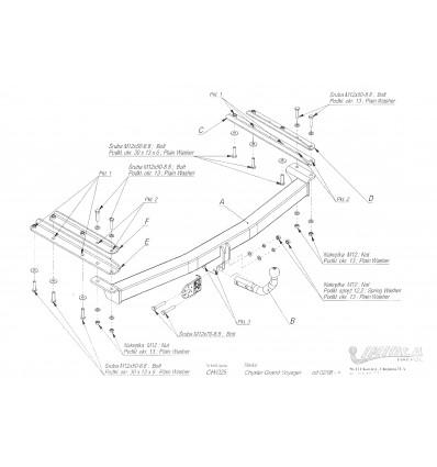 Фаркоп на Chrysler Grand Voyager CH/025