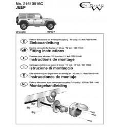 Штатная электрика к фаркопу на Jeep Wrangler 21610516