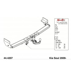 Фаркоп на Kia Soul 345065600001