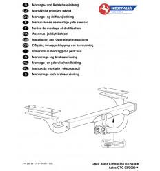 Фаркоп на Opel Astra H 314299600001