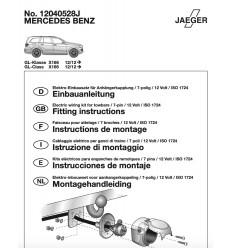 Электрика оригинальная к фаркопу на Mercedes GL 12040528