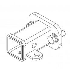 """Переходник с фланцевого шара """"F"""" под квадратное отверстие US-2"""" (50х50) 2отв. (90)мм Z2-16"""