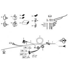 Штатная электрика к фаркопу Mercedes-Benz A/B/CLA/GLA 313398300107