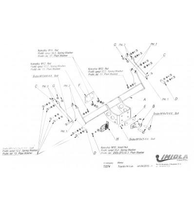 Фаркоп на Toyota Hilux T/074