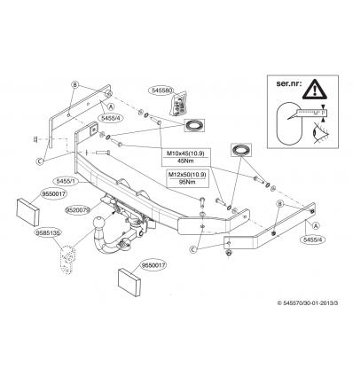 Фаркоп на Audi A6 545500