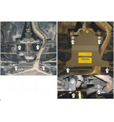 Защита заднего дифференциала Subaru Forester 12201