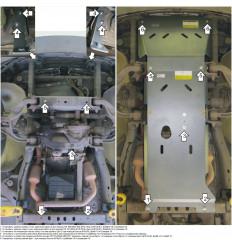 Защита картера, радиатора, КПП и переднего дифференциала Dodge RAM 382902
