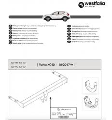 Фаркоп на Volvo XC40 320170600001