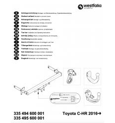Фаркоп на Toyota C-HR 335495600001
