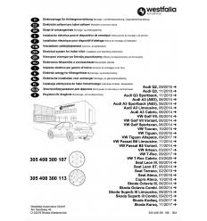 Штатная электрика к фаркопу на Audi A3/Q2 305408300113