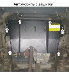 Защита картера и КПП Renault Logan 71706