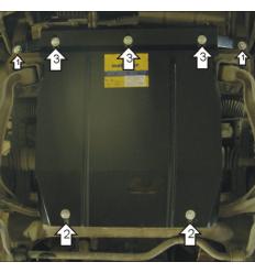Защита картера, радиатора и переднего дифференциала Chevrolet Tracker 02413