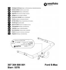 Фаркоп на Ford S-MAX 307304600001